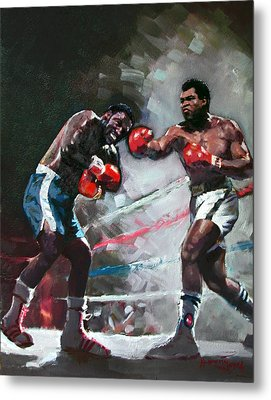 Muhammad Ali And Joe Frazier Metal Print by Ylli Haruni