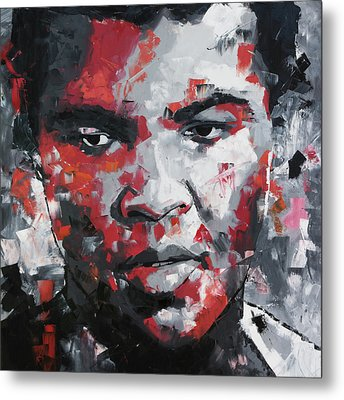 Metal Print featuring the painting Muhammad Ali II by Richard Day