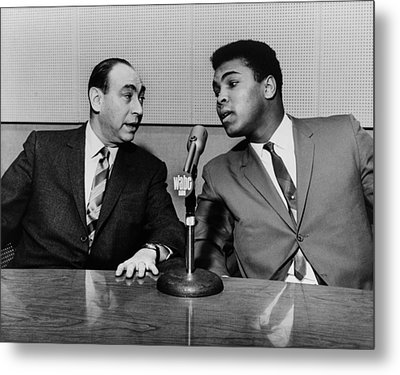 Muhammed Ali And Howard Cosell Metal Print by Everett