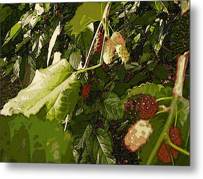 Mulberry Moment Metal Print by Winsome Gunning