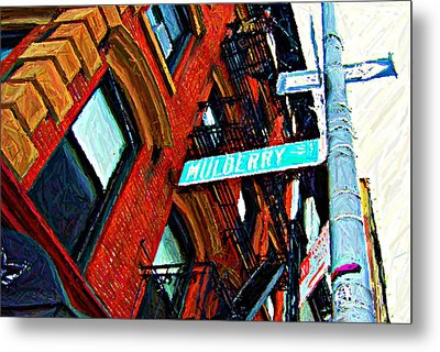 Mulberry Street Sketch Metal Print by Randy Aveille