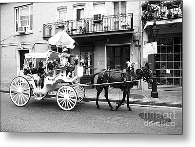 Mule And Buggy French Quarter New Orleans Metal Print by Thomas R Fletcher
