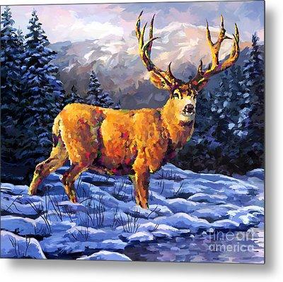 Mule Deer 2 Metal Print