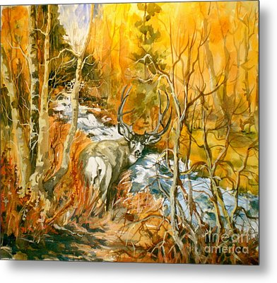 Mule Deer Bishop Creek Metal Print