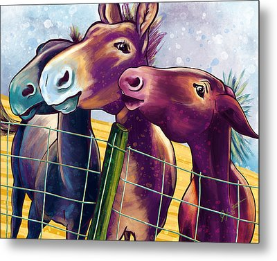Mulin' About Metal Print by Jen Street