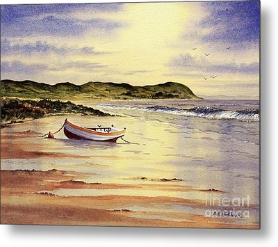 Metal Print featuring the painting Mull Of Kintyre Scotland by Bill Holkham