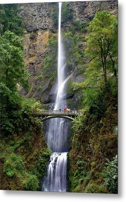 Multanomah Falls Metal Print by Marty Koch