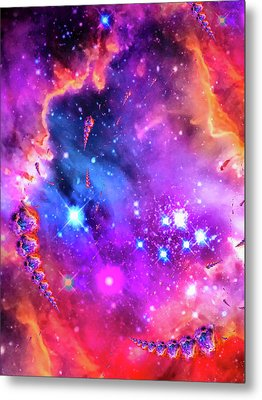 Multi Colored Space Chaos Metal Print