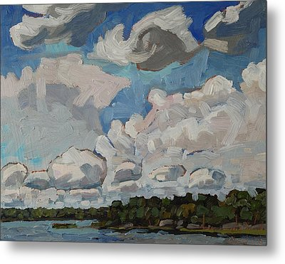 Multicell Thunderstorms Metal Print by Phil Chadwick