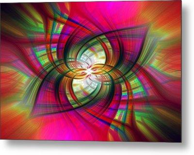 Multicolored Flower Twirl  Metal Print by SharaLee Art