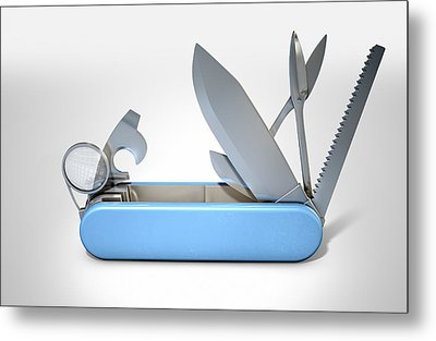 Multipurpose Penknife Metal Print by Allan Swart