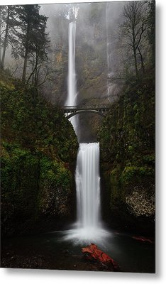 Multnomah Fall Metal Print by Helminadia
