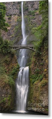 Multnomah Falls - Columbia River Gorge Metal Print by Sandra Bronstein