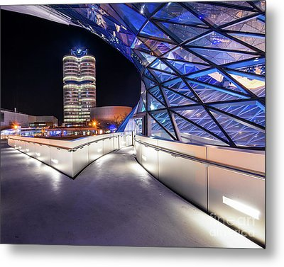 Metal Print featuring the pyrography Munich - Bwm Modern And Futuristic by Hannes Cmarits