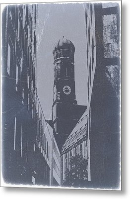 Munich Frauenkirche Metal Print by Naxart Studio