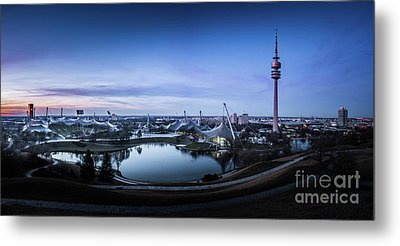 Metal Print featuring the photograph Munich - Watching The Sunset At The Olympiapark by Hannes Cmarits