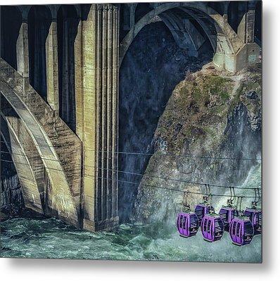 Munroe Street Bridge Metal Print by Dennis Herzog