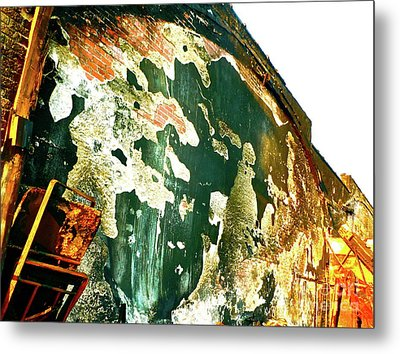 Mural Of Destruction Metal Print by Chuck Taylor