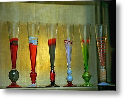 Murano Glasses In Venice Metal Print by Michael Henderson