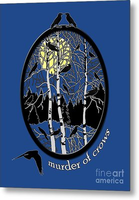 Murder Of Crows Metal Print by Methune Hively