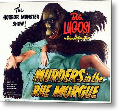 Murders In The Rue Morgue, The Girl Metal Print by Everett