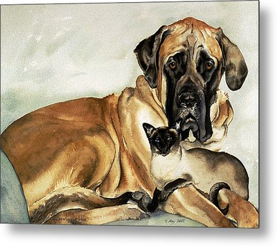 Murphy And Cody Metal Print by Eileen Hale