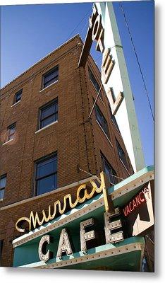 Murray Cafe And Hotel Metal Print by Rachel Barner