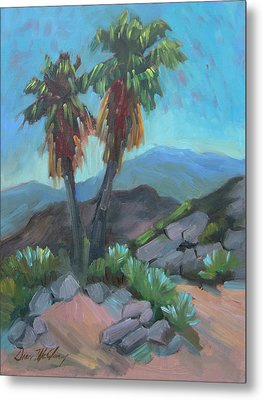 Metal Print featuring the painting Murray Trail Andreas Canyon by Diane McClary