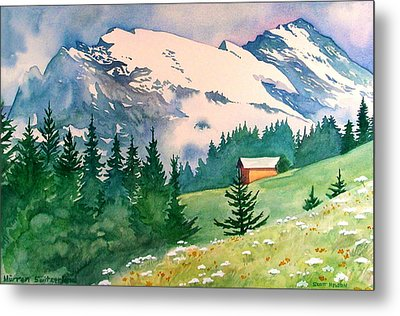 Murren Switzerland Metal Print