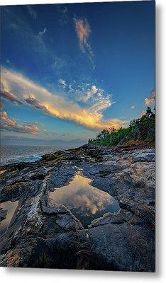 Muscongus Bay Reflections Metal Print by Rick Berk