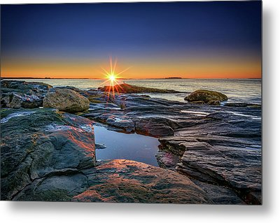 Muscongus Bay Sunrise Metal Print