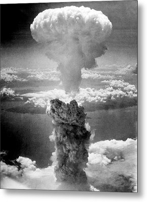 Mushroom Cloud Over Nagasaki  Metal Print by War Is Hell Store