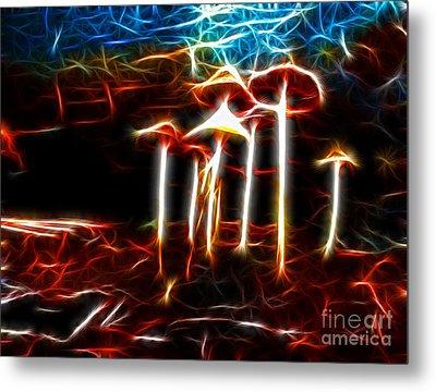 Mushroom Digital Art Metal Print by Kami McKeon