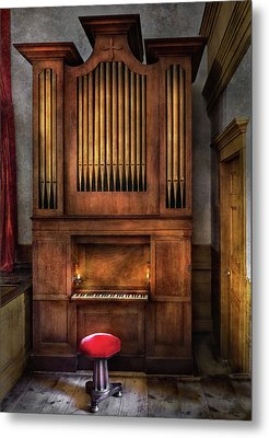 Music - Organist - What A Big Organ You Have  Metal Print by Mike Savad