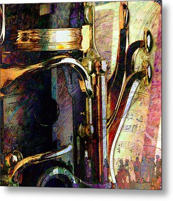 Music Metal Print by Barbara Berney