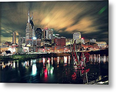 Music City Midnight Metal Print by Matt Helm