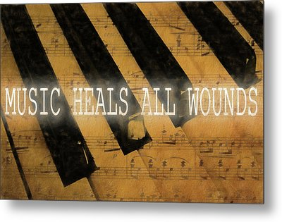 Music Heals All Wounds Metal Print by Dan Sproul