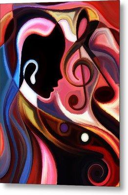 Music In The Air Metal Print by Karen Showell