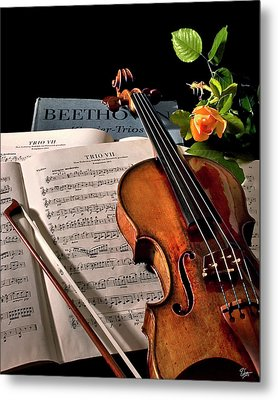 Metal Print featuring the photograph Music Is A Moral Law by Endre Balogh
