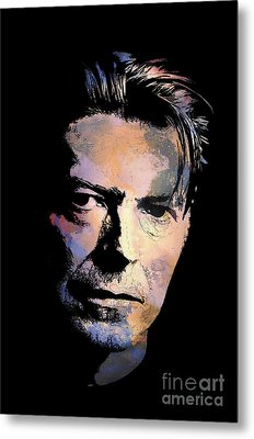Metal Print featuring the painting Music Legend 2 by Andrzej Szczerski