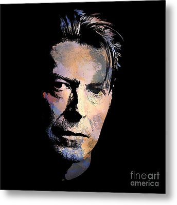 Metal Print featuring the painting Music Legend. by Andrzej Szczerski
