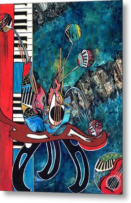 Music Mania Metal Print by Cheryl Ehlers