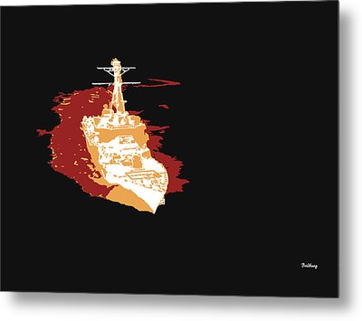 Metal Print featuring the digital art Music Notes 11 by David Bridburg
