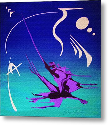 Metal Print featuring the painting Music Of Ojas by Robert G Kernodle