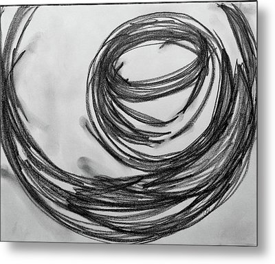 Music Sketch Study Leon Bridges Metal Print by Brenda Pressnall