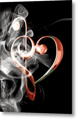 Musical Heart Collection Metal Print