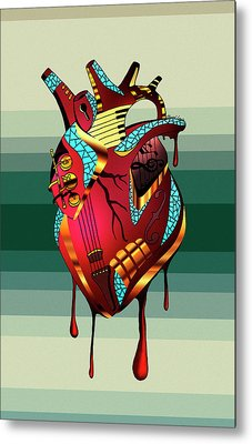 Musical Heart  Metal Print by Kenal Louis