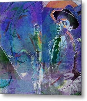 Music Icons - Frank Sinatra I Metal Print