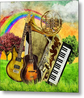 Musical Wonderland Metal Print by Ally White