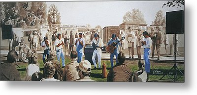 Musicians And The Impromptu Tenor Metal Print